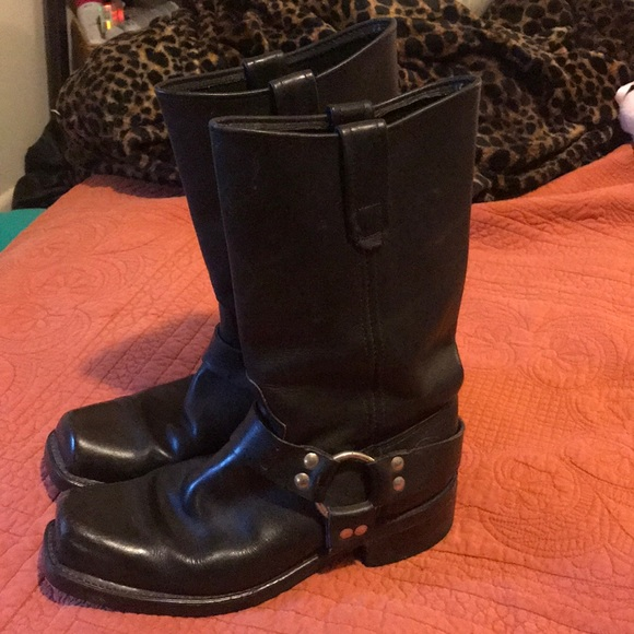 4cde65bb3aba55 James Dean Shoes - Black Harness Boots